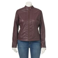 Womens Faux-Leather Jackets | Kohl's