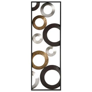 Stratton Home Decor Metallic Geometric Panel Wall Art