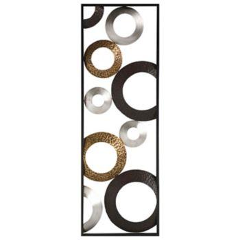 Stratton Home Decor Metallic Geometric Panel Wall Art