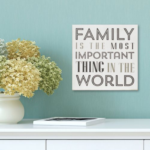 """Stratton Home Decor """"Family is the Most Important"""" Box Wall Art"""