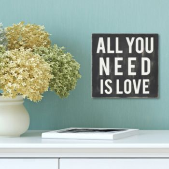 "Stratton Home Decor ""All You Need Is Love"" Wall Art"