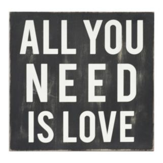 """Stratton Home Decor """"All You Need Is Love"""" Wall Art"""