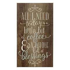 stratton home decor coffee and blessings wall art - Kitchen Wall Art