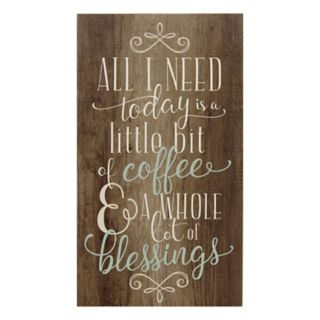 Stratton Home Decor ''Coffee and Blessings'' Wall Art