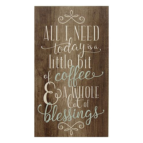 Stratton Home Decor \'\'Coffee and Blessings\'\' Wall Art