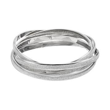 Glitter Intertwined Bangle Bracelet