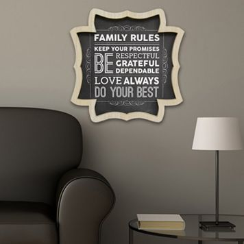 Stratton Home Decor ''Family Rules'' Wall Art