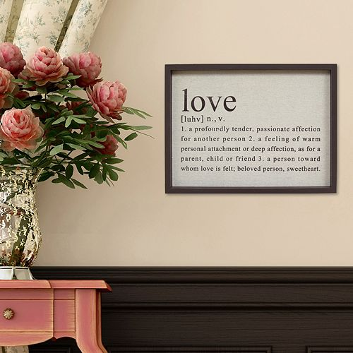 Stratton Home Decor Definition Of Love Wall Art