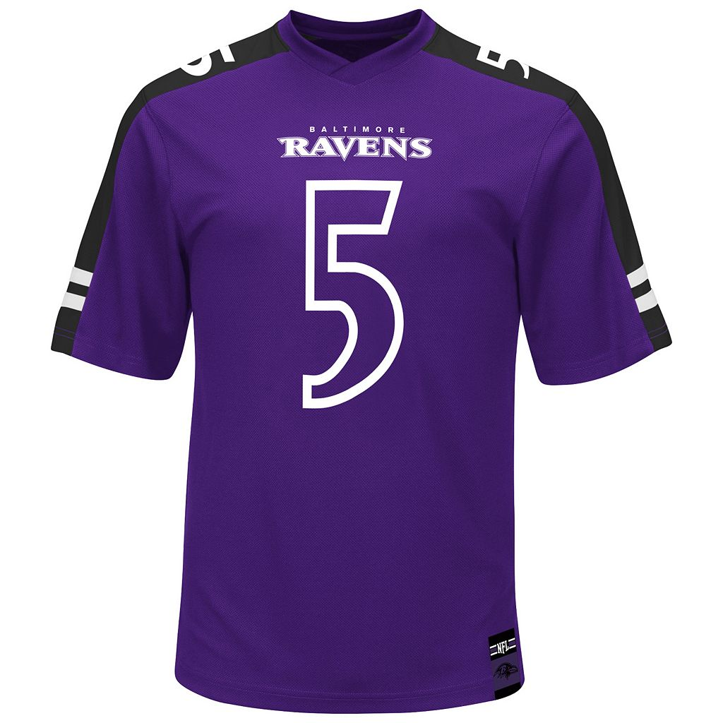 Men's Majestic Baltimore Ravens Joe Flacco Hashmark Player Top