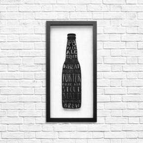 Stratton Home Decor Types of Beer Shadowbox Wall Art