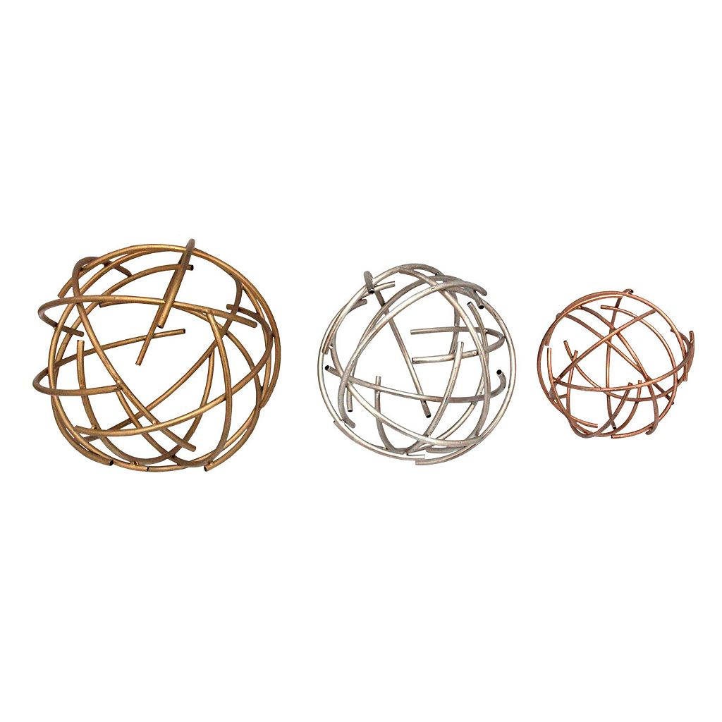 Stratton Home Decor Sphere Tabletop Decor 3-piece Set
