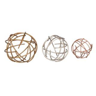 Stratton Home Decor Sphere Tabletop Decor 3-piece Set