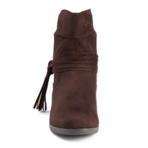 SO® Women's Fringe Ankle Boots