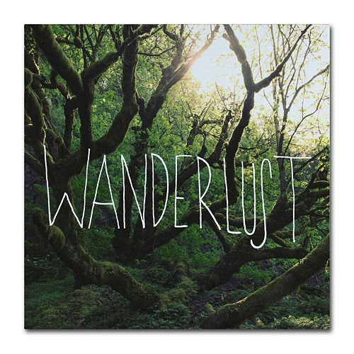 "Trademark Fine Art ""Wanderlust"" Canvas Wall Art"
