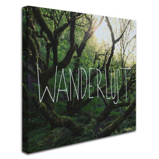 """Trademark Fine Art """"Wanderlust"""" Canvas Wall Art"""