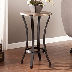 Janean Round Accent End Table