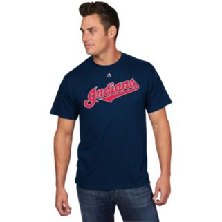 Men's Majestic Cleveland Indians Francisco Lindor Player Name and Number Tee