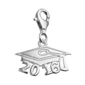 personal charm Sterling Silver 2016 Graduation Cap Charm