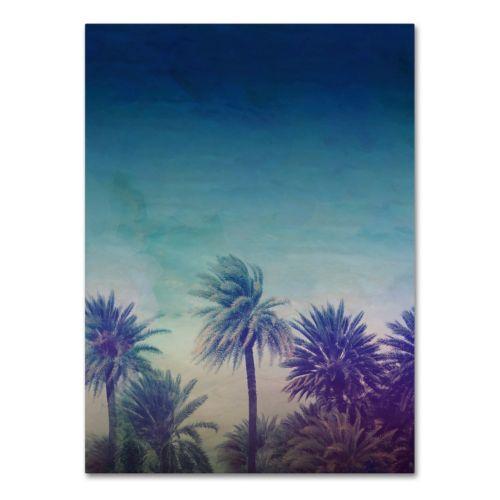 Trademark Fine Art Palm Paradise Canvas Wall Art