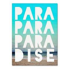 Trademark Fine Art 'Paradise' Canvas Wall Art