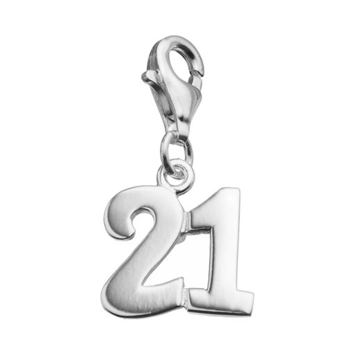 """personal charm Sterling Silver """"21"""" Charm"""