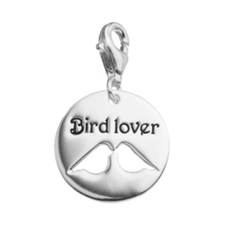 """personal charm Sterling Silver """"Bird Lover"""" Charm"""