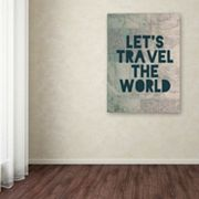 Trademark Fine Art 'Travel the World' Canvas Wall Art