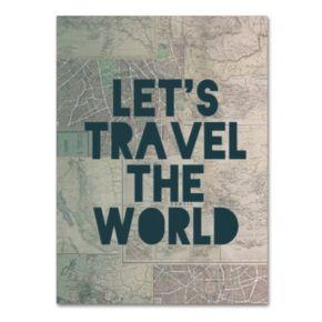 "Trademark Fine Art ""Travel the World"" Canvas Wall Art"
