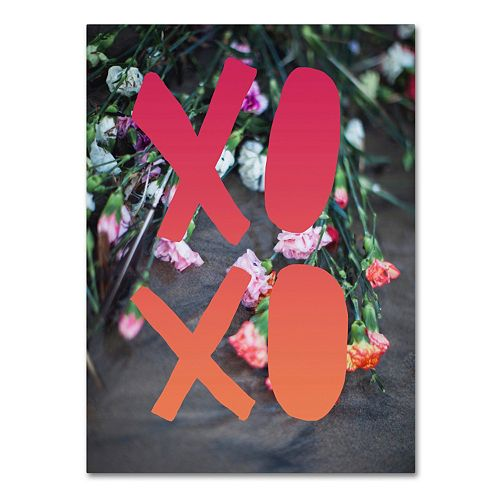 "Trademark Fine Art ""XOXO"" Canvas Wall Art"