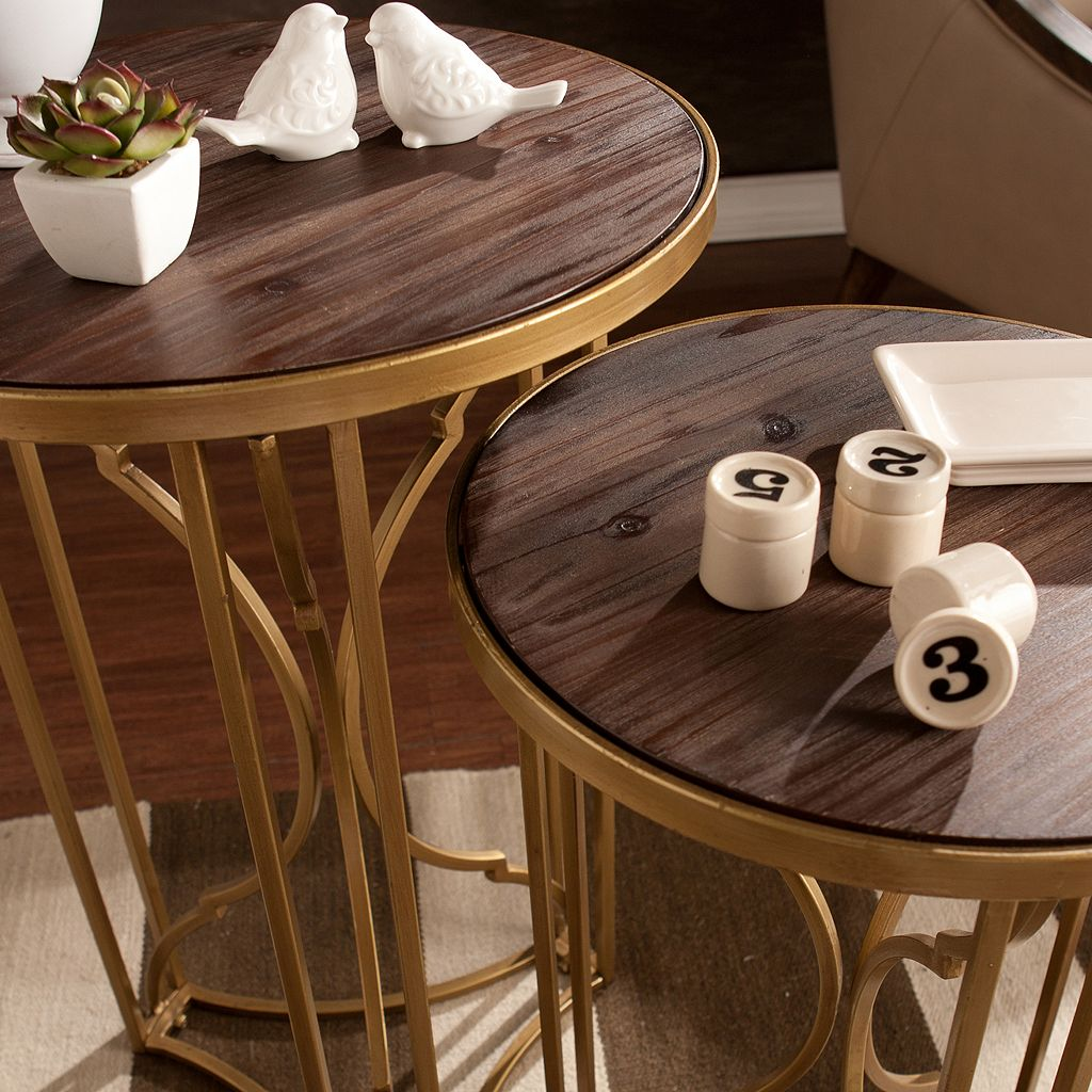 Allison Accent End Table 2-piece Set