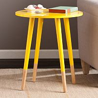 Buckler Round Accent End Table