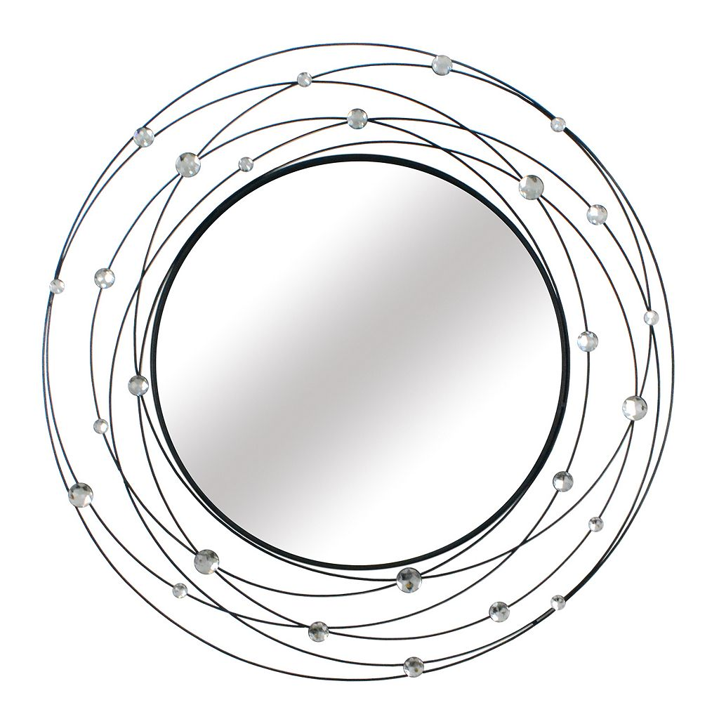 Stratton Home Decor Round Acrylic Wall Mirror