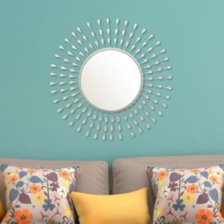 Stratton Home Decor Acrylic Tear Drop Wall Mirror