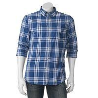 Big & Tall SONOMA Goods for Life® Classic-Fit Plaid Poplin Button-Down Shirt