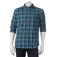 Big & Tall SONOMA Goods for Life® Classic-Fit Plaid Poplin Button-Down Shirt