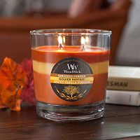 WoodWick Tri-Tone Gingered Pumpkin 17.2-oz. Jar Candle