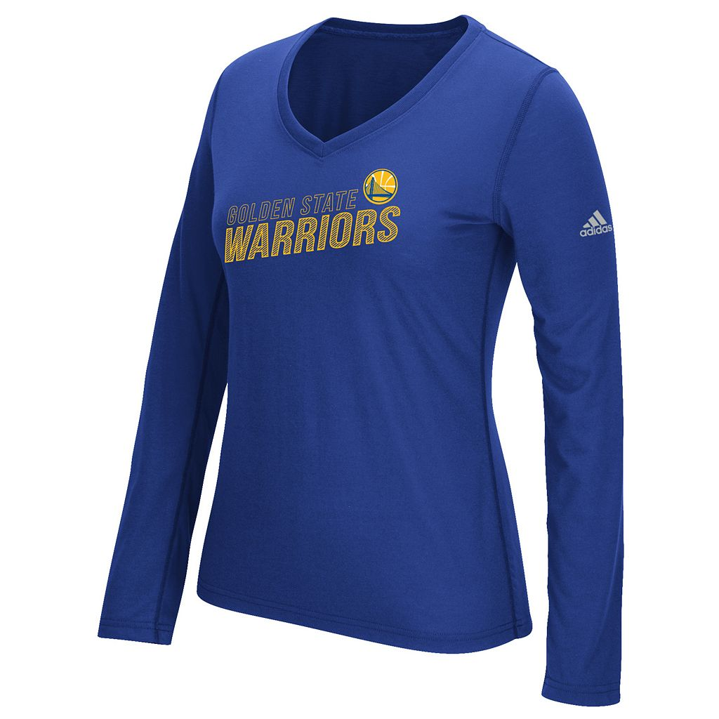 Women's adidas Golden State Warriors Stacked Tee
