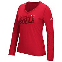 Women's adidas Chicago Bulls Stacked Tee