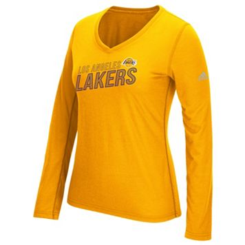 Women's adidas Los Angeles Lakers Stacked Tee