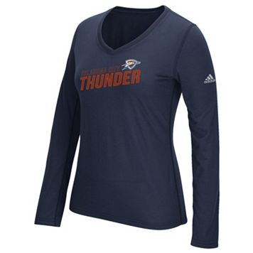 Women's adidas Oklahoma City Thunder Stacked Tee