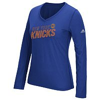 Women's adidas New York Knicks Stacked Tee