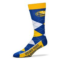 Adult For Bare Feet Golden State Warriors Argyle Line Up Crew Socks