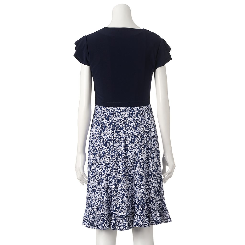 Women's Perceptions Floral Shift Dress & Jacket Set