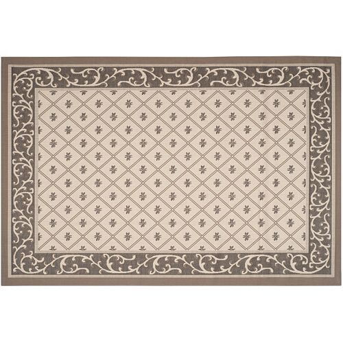 Safavieh Courtyard Scroll Border Indoor Outdoor Rug