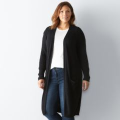 Plus Size SONOMA Goods for Life™ Open-Front Duster Cardigan