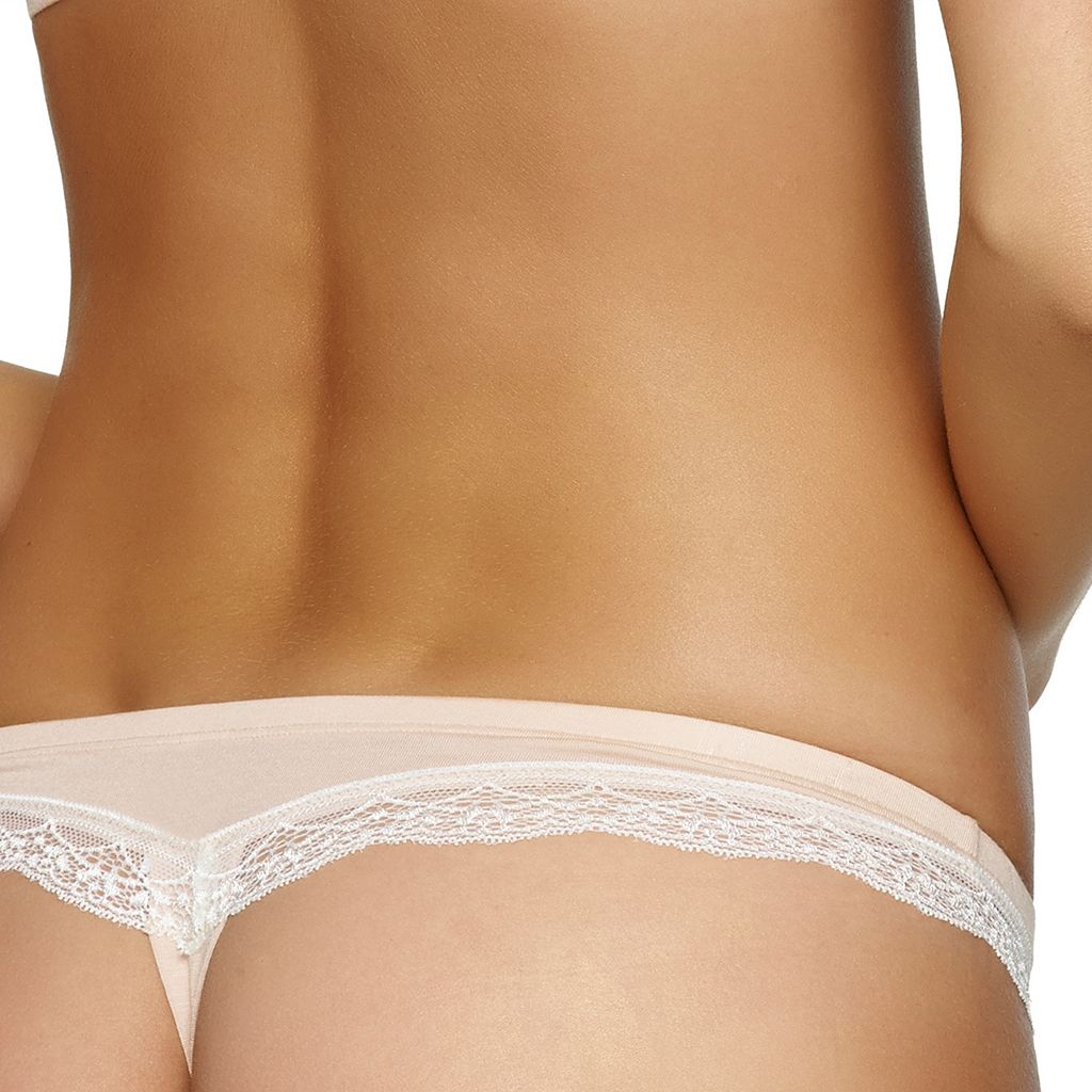 Jezebel Inviting Lace Trim Thong 530038