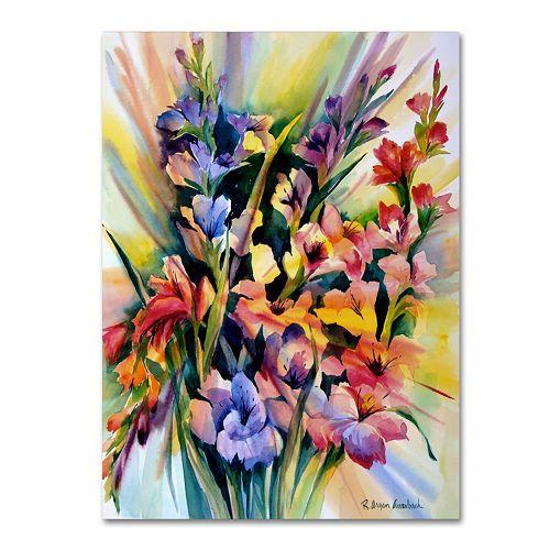 Trademark Fine Art Glad Bursts Canvas Wall Art