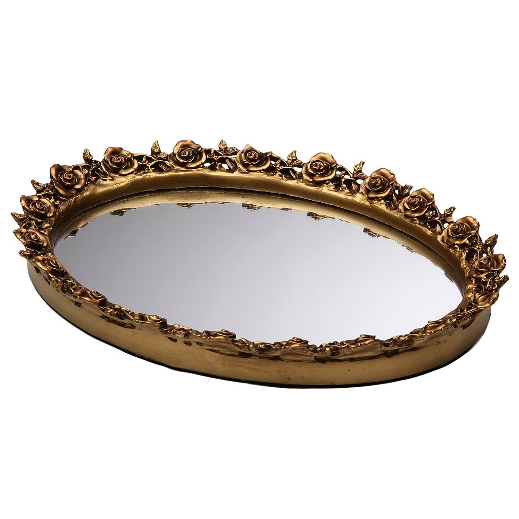 Taymor Rose Resin Mirror Tray