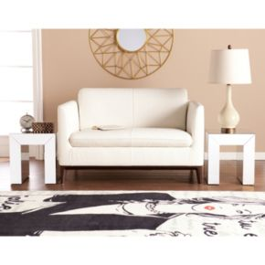 Alexia Mirrored Accent End Table 2-piece Set