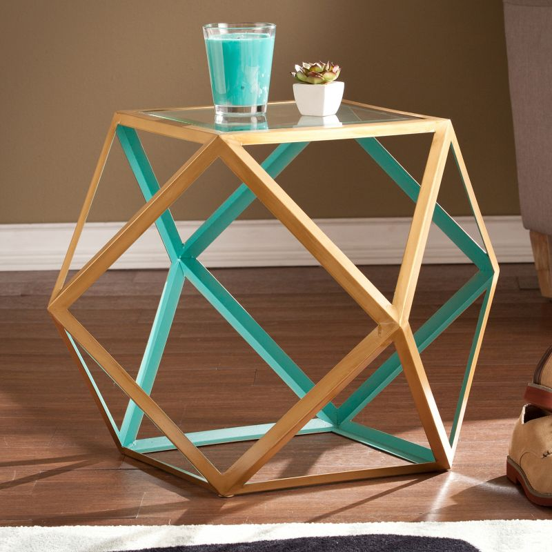 Jacoby Accent End Table, Blue